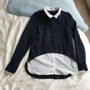Longsleeve knit and button down set